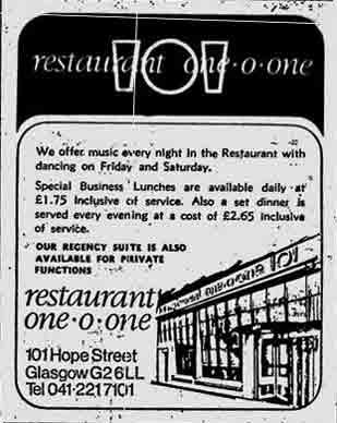 101 advert Hope Street