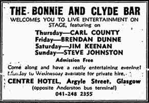 Bonnie and Clyde advert 1978