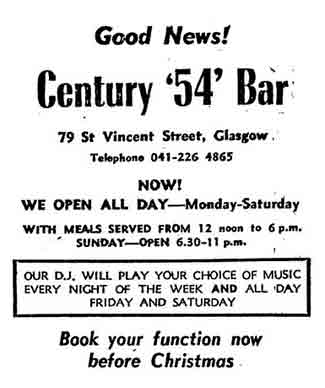 Century 54 Bar Advert 1979