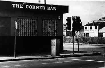 exterior view of the Corner Bar from Caledonia Road