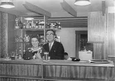 interior view of Jack's Bar with Margaret and John Conlin