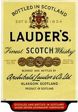 Lauder's Whisky Label
