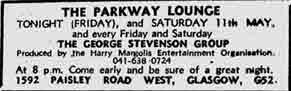 Parkways advert 1973