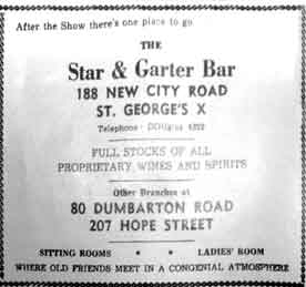 Star & Garter Advert
