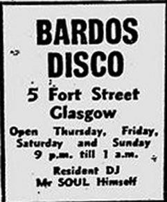 Bardo Disco advert 1975