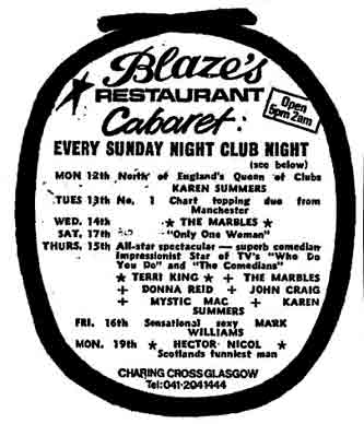 Blazes advert 1978