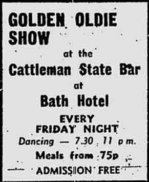 Cattleman state bar at Bath Hotel advert 1974