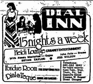 Dial Inn advert 1974