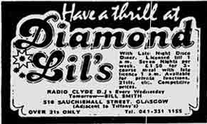 Diamond Lil's advert 1977