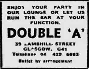 Double A advert 1975