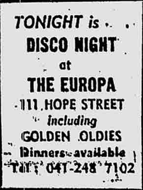 Europa Advert 1973
