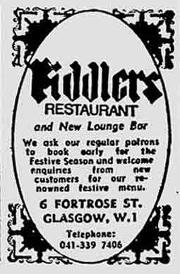 Fiddlers advert 1976