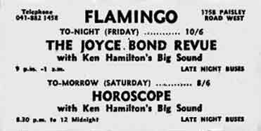 Flamingo Paisley Road West Advert