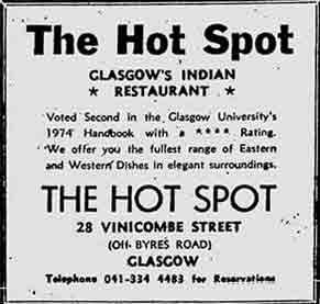 Hot Spot advert 1974