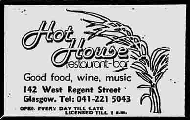 Hot House advert 1979