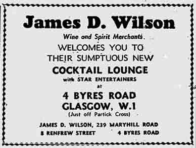 James D Wilson Advert 1970