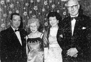 group image of Mr & Mrs J Hamilton, Mrs & Mr James Culligan 1962