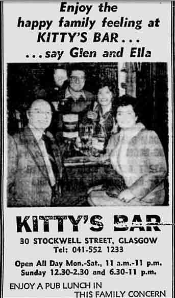 Kitty's Bar advert 1979