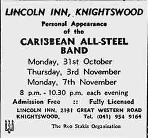 Lincoln Inn advert 1977
