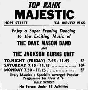 Majestic Hope Street Glasgow Advert