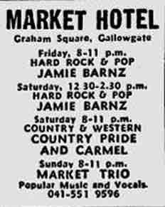 Market Hotel Gallowgate advert 1978