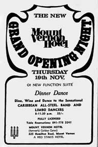 Mount Vernon Hotel Advert