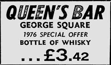 Queens Bar advert 1976