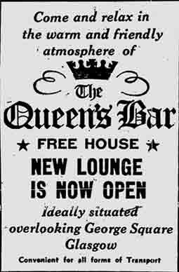 Queens Bar advert 1974