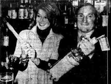 John Forbes owner of the Rock Tavern Possilpark and Helen O'Brien