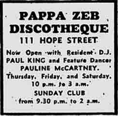 Papa Zeb 1971 advert